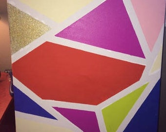 Abstract colorful canvas