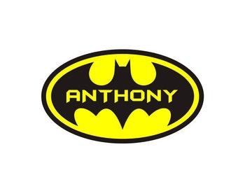 Personalized Batman/Batgirl Graphic
