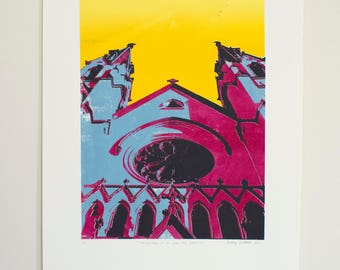 Cathedral of St. John the Baptist - 5 color screen print (5/6)