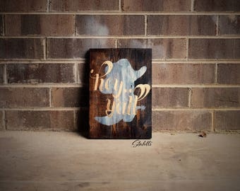 Hey Y'all Sign, Hey Yall Sign, Wooden Signs, Rustic Wooden Sign. Rustic Signs, Rustic Wall Decor. Rustic Sign, Country, Wooden Sign, Sign