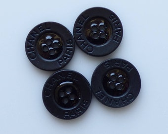 Chanel All Black Buttons. New. Authentic 18mm