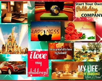 Happiness, Family, Disney Vision Board