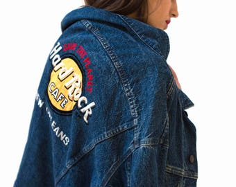New York Vintage Hard Rock Cafe Denim Jacket