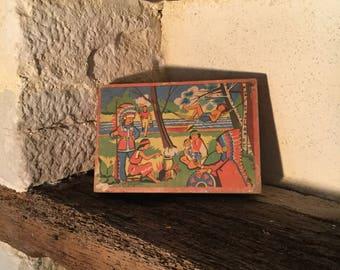 Jeujura wooden cubes game
