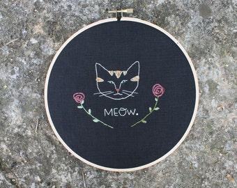 Meow rose hoop