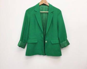 OSCAR DE LA Renta Linen Jacket- S