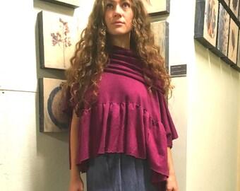 Hemp top custom made and hand dyed // organic clothing // eco-friendly // hemp clothing // peplum top