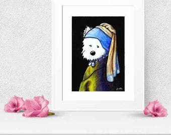Choice of KiniArt Terrier Dog Art PRINT Signed Reproduction