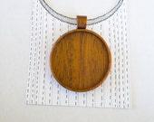 Large LIGHT pendant tray fine finished - Mahogany - 38 mm Cavity - (Z38-M) - Organic bail