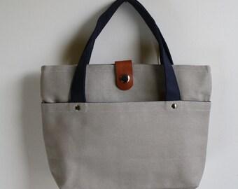 carry bag - smokey + midnight blue