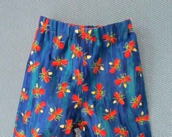 Toddler Boys Reversible Pants Size 18 months -  Eric Carle Lightening Bugs - Cotton Fabric