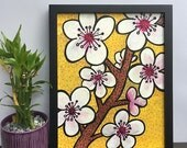 Cherry Blossom Painting -...