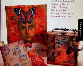 STAMP ARTISTRY BOOK Rice Freeman-Zachery Rubber Stamping Art Combined With Beadwork Carving Collage Etching Fabric Metalwork Painting Etc.