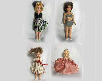 Vintage Dolls, 1950's, Small, Miniature, Collectible, Toys