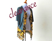 Clearance-Sale!! 1920's Vintage Elegance Epaulet Cardigan cape gypsy lagenlook boho chic hippie vest handmade upcycled clothing wearable art