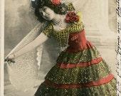 Vintage Snapshot Photo Postcard Paris France Carte Postale Chavita Dancer SAn Francisco CA Watchmaker RPPC
