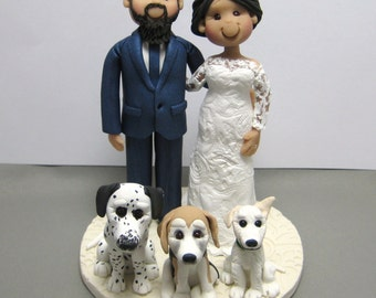 DEPOSIT for a Custom made Polymer Clay Wedding Cake Topper