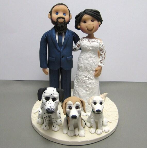 DEPOSIT for a Custom made Polymer Clay Wedding Cake Topper