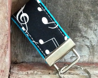 READY To Ship-MINI-MINI Keychain-Mustic notes On Turq