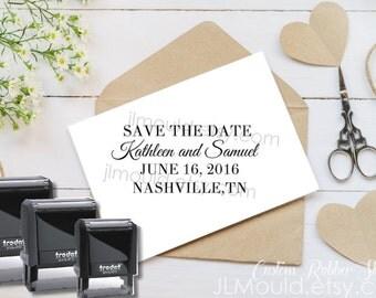 0355 Self Inking JLMould Modern Family Custom Personalized Rubber Stamp Return Address  Wedding Stamper Choose Ink Color