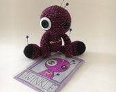 Twinkle the Amigurumi Purple Sparkly Voodoo Doll