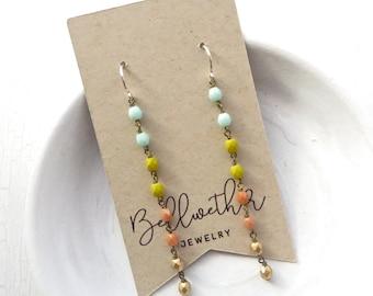 Long Earrings // Beaded Earrings // Gifts Under 20 // Handmade Jewelry // Boho Jewelry // Dangle Earrings // Gifts for Teens // Bellwether