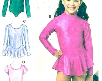 Girls dance costume Athletic gymnastic Unitard Sewing pattern Kwik Sew 3508 UNCUT Sz 8 to 14