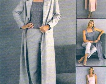 Duster camisole top skirt pants sewing pattern Wedding party McCalls 2628 Sz 10 to 14 UNCUT