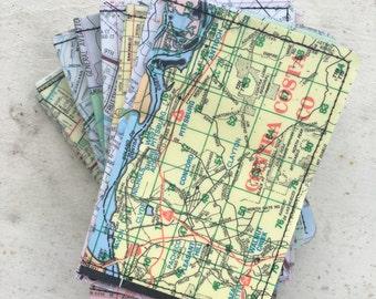 Slim Wallet- Oakland, Berkeley East Bay Vintage Map- Choose 1