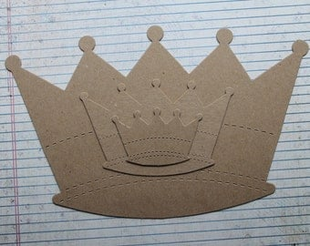 Choice of 3 sizes...Small, Large, X-Large Bare chipboard CROWN die cuts