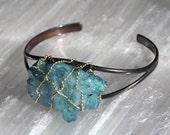 Aqua Aura Crystal Cuff Bracelet