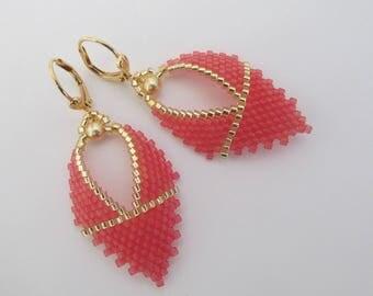 Russian Leaf Earrings - Watermelon