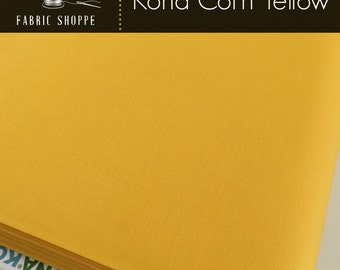 Kona cotton solid quilt fabric, Kona CORN YELLOW 1089, Kona fabric, Solid fabric Yardage, Kaufman, Yellow fabric, Choose the cut