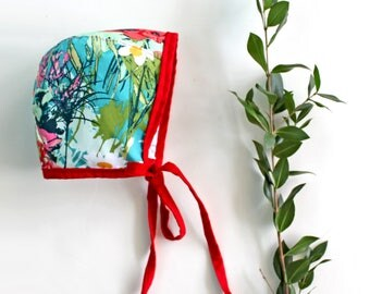 Flower Garden Cotton Print Bonnet for Baby and Toddler