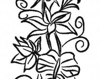 Vine and Leaves  Machine Embroidery Design  by LetZRocK 2589