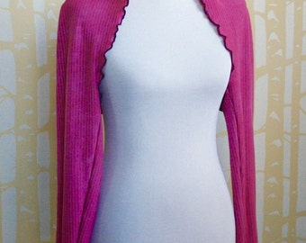 Convertible Scarf Shrug, Scarf, or Hood, made to order in your choice of organic cotton and recycled jersey color combinations