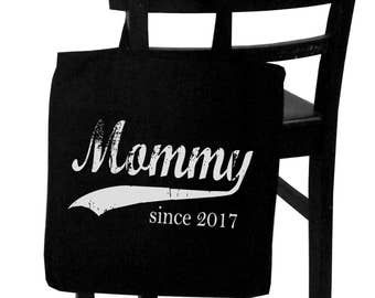 Mommy since ANY year, personalized tote bag, screen print canvas bag, gift for women, mom tote, new mom gift, mommy tote