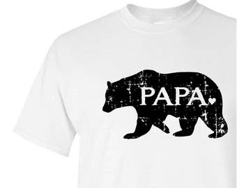 PAPA bear graphic tee - Father's Day gift - screen print t-shirt - grandfather gift