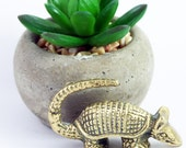 Brass Armadillo Miniature Figurine, Vintage brass animal
