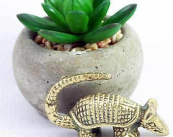 Brass Armadillo Miniature Figurine, Vintage brass animal