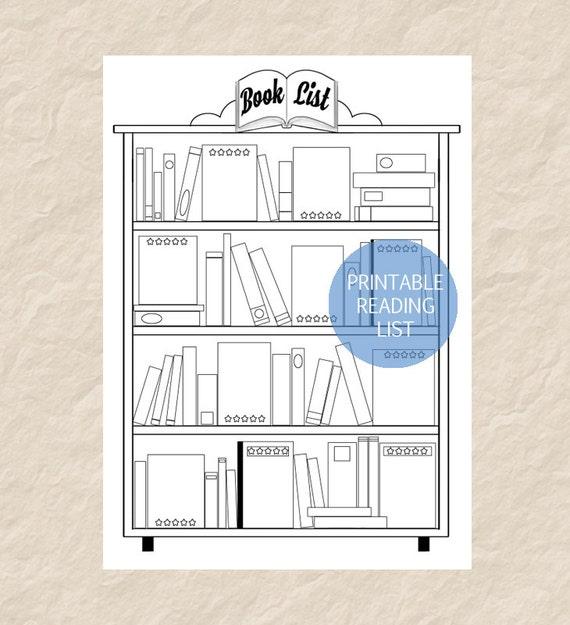 Printable Book List Printable Reading List Printable