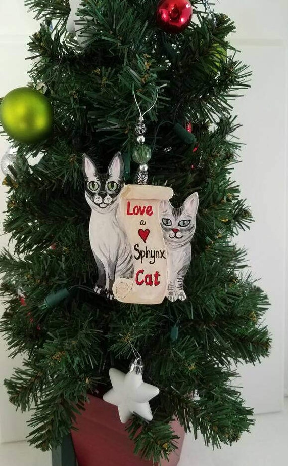 Custom 2 Cat Ornament Custom Cat Cat Christmas Ornament