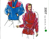 Kwik Sew 2007 Misses Ski Anorak Hooded Pullover Jacket Coat Size XS to XL Uncut Vintage Sewing Pattern 1980