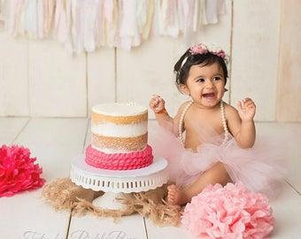 Cake Smash Outfit Girl Tutu, First Birthday Outfit Girl Tutu, Newborn Tutu Skirt, Tulle Skirt, 1st Birthday Outfit, SEWN Tutu, Baby Gift