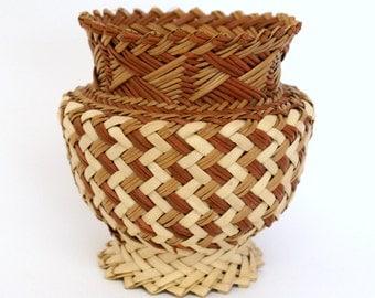 Small Multi-Tone Basket Vase