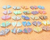 Huge Collection of Handmade Artisan Beads Polymer Clay Beads Top Drilled 25 Pairs or 50 Beads Total