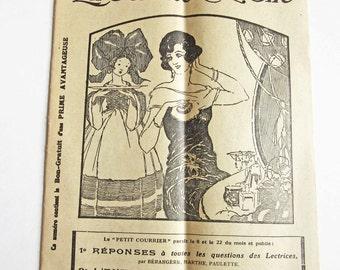 Vintage French Fashion & Ladies Magazine Petit Courrier de La Femme Chez Elle 1923 No. 17
