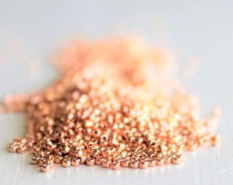 10g Galvanized Rose Gold Size 15 TOHO Seed Beads