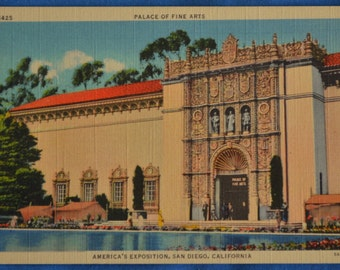 Postcard Fine Arts Palace San Diego California America's Exposition 1935