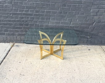 Glam Brass & Glass Coffee Table